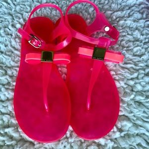 Ted Baker pink/fuchsia jelly sandals 8